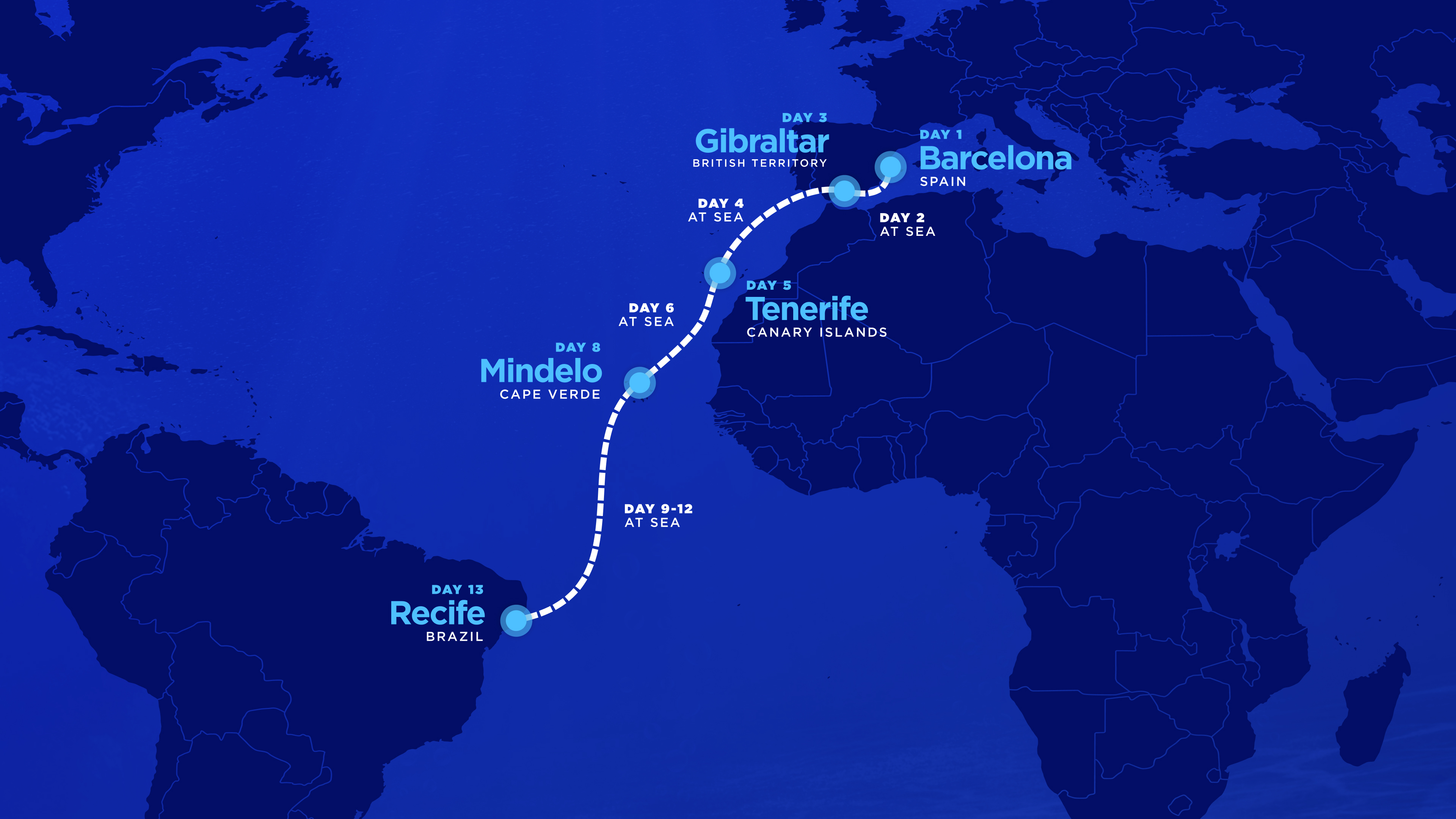 Cruise Ship from Barcelona to Brazil